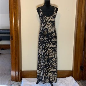 Connected Apparel gold and black dress, 12